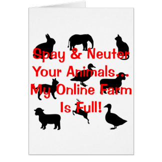 spay and neuter cards