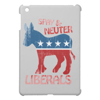 SPAY AND NEUTER LIBERALS Faded.png iPad Mini Case
