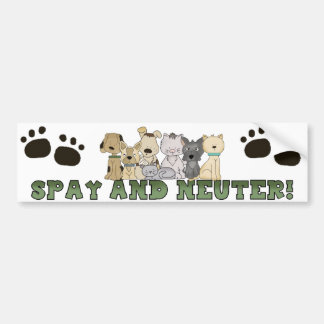 Spay and Neuter Your Pets Bumper Sticker