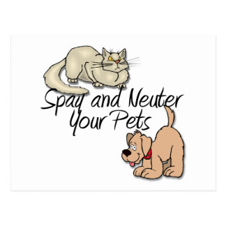 Spay and Neuter Your Pets Postcards