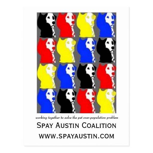 Spay Austin Coalition postcard