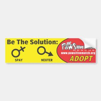 Spay, Neuter, Adopt Bumper Sticker