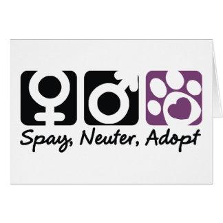Spay, Neuter, Adopt Greeting Card