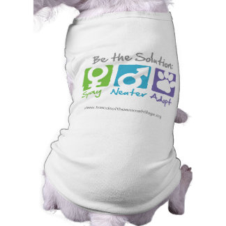 """Spay, Neuter, Adopt"" Dog Shirt"