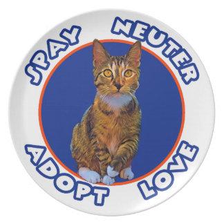 Spay Neuter Adopt Love Plate
