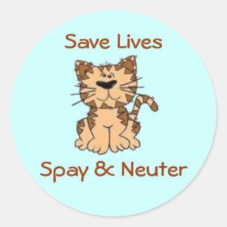 Spay & Neuter Classic Round Sticker