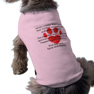 Spay & Neuter Pawprint Doggie Ribbed Tank Top Pet Tshirt