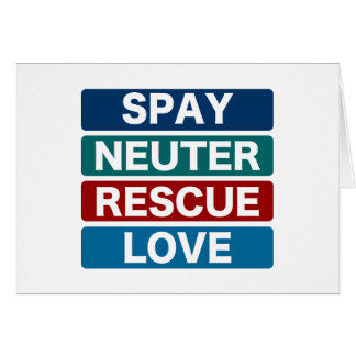 Spay Neuter Rescue Love 2 Greeting Cards