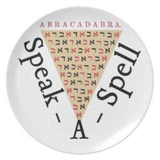 Speak-a-Spell Plate