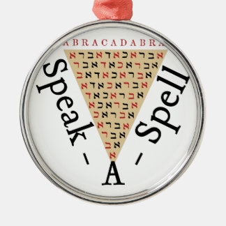 Speak-a-Spell Silver-Colored Round Ornament
