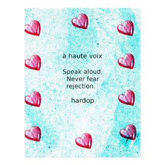"""""""Speak aloud. Never fear rejection."""" (Motivation) Letterhead"""