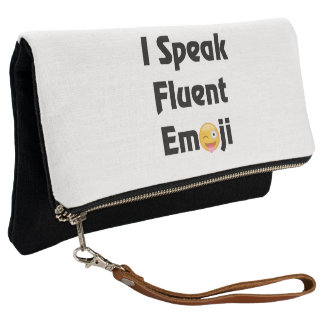 Speak Emoji Fold Over Clutch