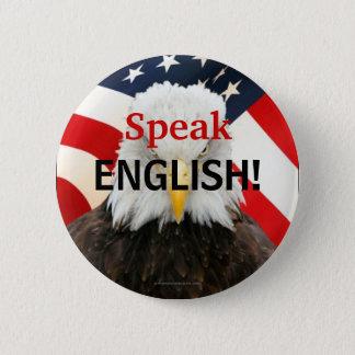 Speak English Eagle Pin Button