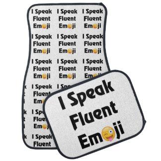 Speak Fluent Emoji Car Mat