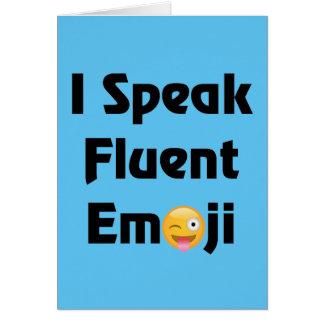 Speak Fluent Emoji Card