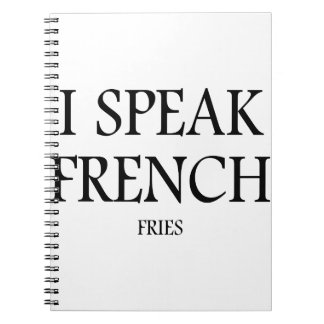 Speak French Fries Notebooks