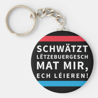 Speak Luxembourgish key chain Black