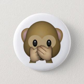 Speak No Evil Monkey - Emoji 2 Inch Round Button