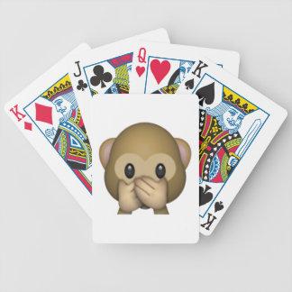 Speak No Evil Monkey - Emoji Bicycle Playing Cards