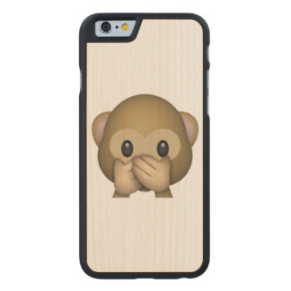 Speak No Evil Monkey - Emoji Carved Maple iPhone 6 Case