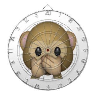 Speak No Evil Monkey - Emoji Dartboard