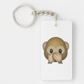 Speak No Evil Monkey - Emoji Double-Sided Rectangular Acrylic Keychain