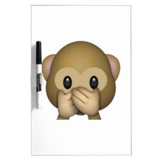 Speak No Evil Monkey - Emoji Dry Erase Board