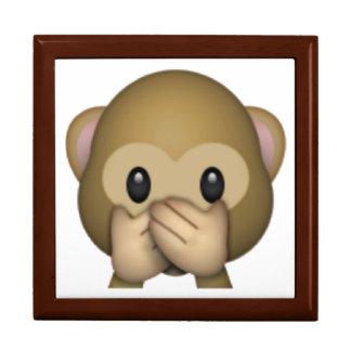 Speak No Evil Monkey - Emoji Jewelry Box