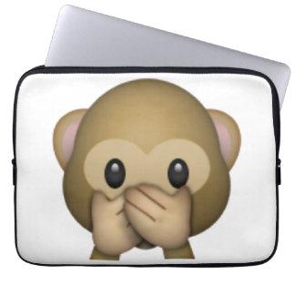 Speak No Evil Monkey - Emoji Laptop Sleeve