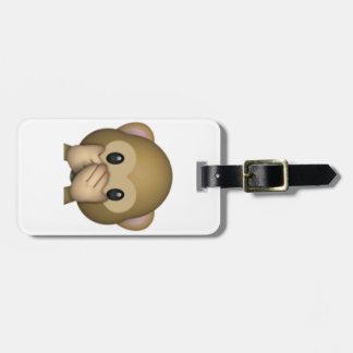 Speak No Evil Monkey - Emoji Luggage Tag