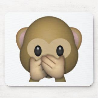 Speak No Evil Monkey - Emoji Mouse Pad
