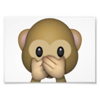 Speak No Evil Monkey - Emoji Photo Print