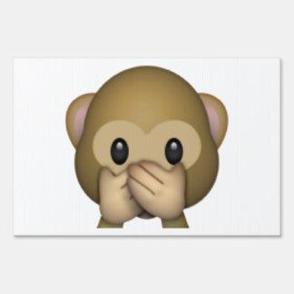 Speak No Evil Monkey - Emoji Sign