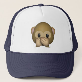 Speak No Evil Monkey - Emoji Trucker Hat