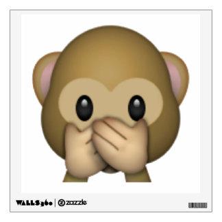 Speak No Evil Monkey - Emoji Wall Sticker