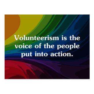 Speak out by volunteering (2) postcard