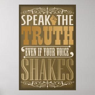 Speak the Truth Poster