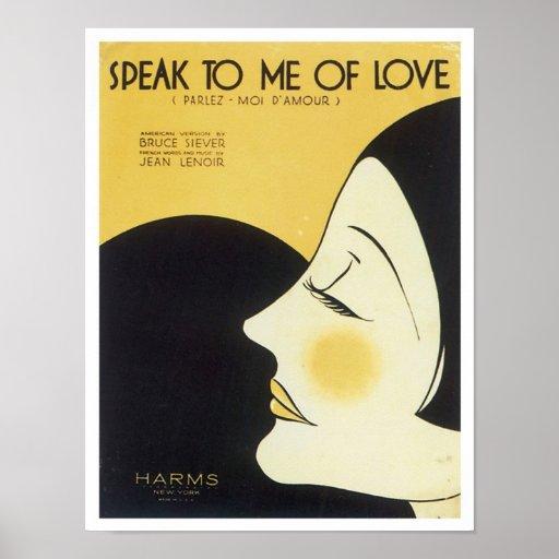 Speak to Me of Love Vintage Songbook Cover Posters