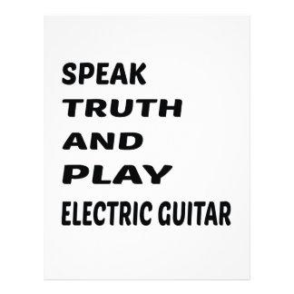 Speak Truth and play electric guitar Custom Letterhead