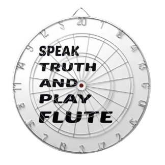 Speak Truth and play flute Dart Boards