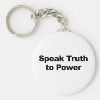 Speak Truth To Power Basic Round Button Keychain