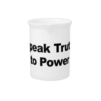 Speak Truth To Power Pitcher