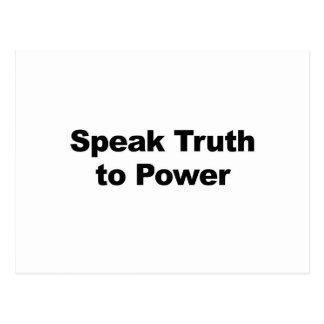 Speak Truth To Power Postcard