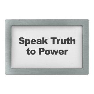 Speak Truth To Power Rectangular Belt Buckles