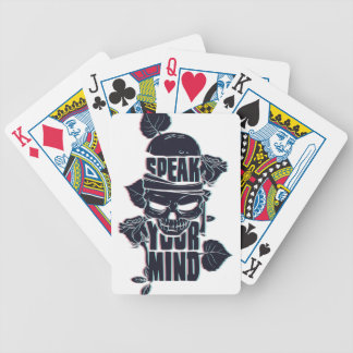 speak your mind skull bicycle playing cards