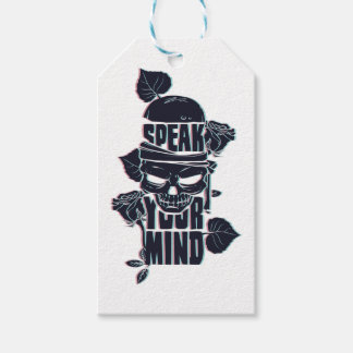 speak your mind skull gift tags
