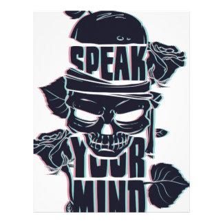 speak your mind skull letterhead