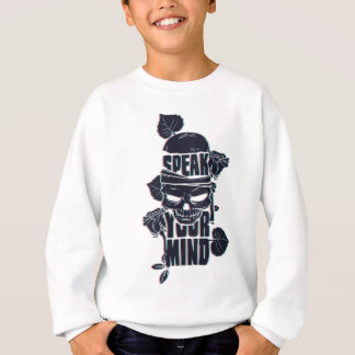 speak your mind skull sweatshirt