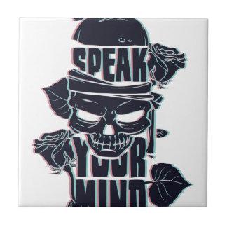 speak your mind skull tile