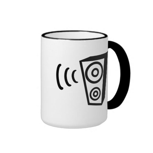 Speaker beat music coffee mug